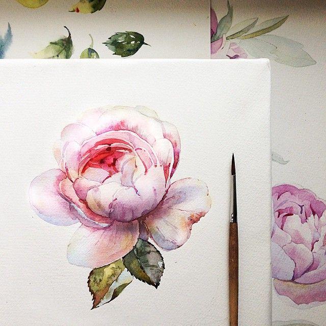Pin Von Megan Burton Clemens Auf Watercolor Blumen Malen