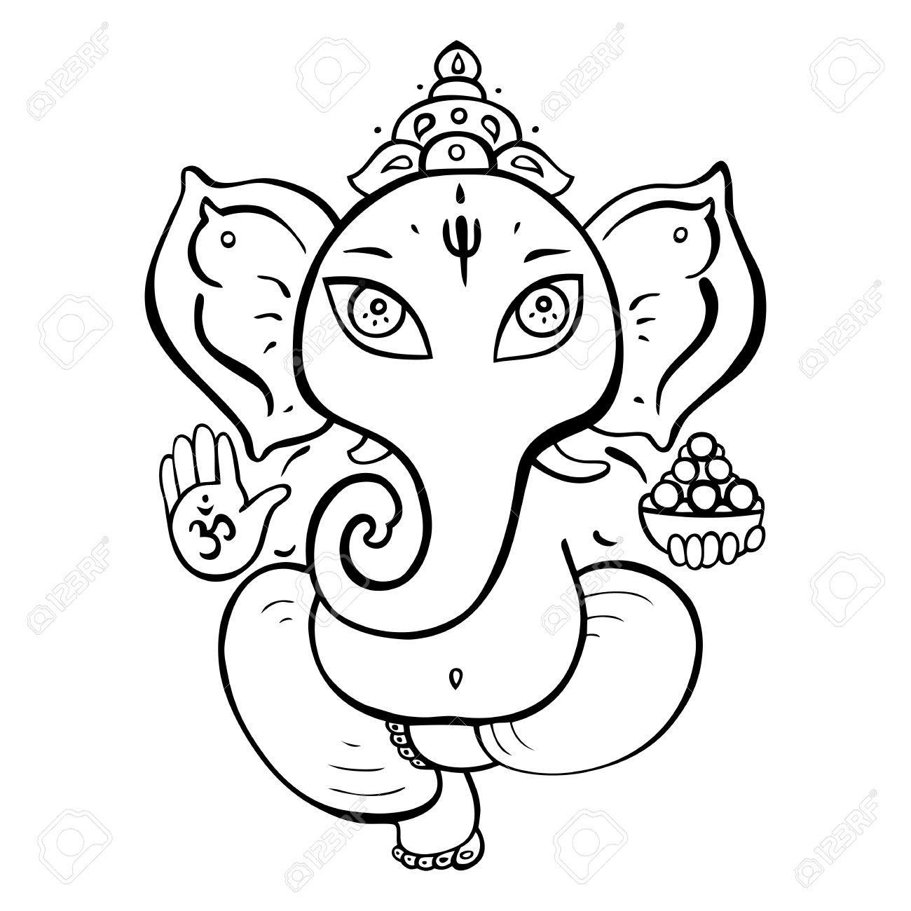 Line Art Hindu Gods : Hindu elephant drawing buscar con google art