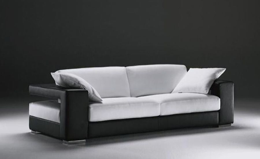 Sigle Sofa Modern Design Classic Simple Design Genuine Leather