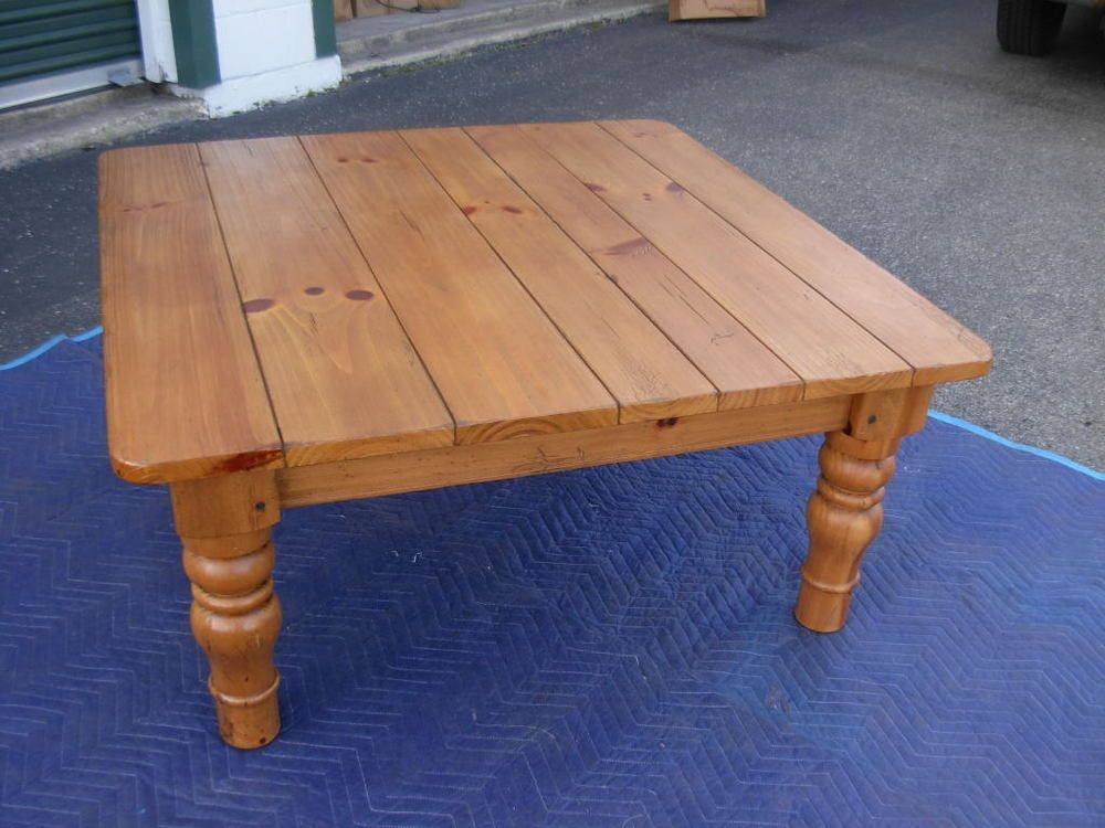 Fantastic Rare Ethan Allen Coffee Cocktail Table Farmhouse Pine Gmtry Best Dining Table And Chair Ideas Images Gmtryco