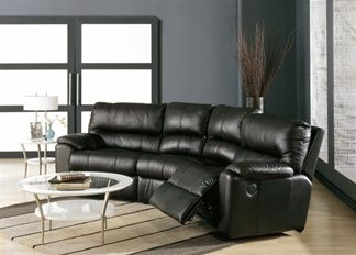 Yale Palliser Leather Reclining Curved Sofa Town And Country