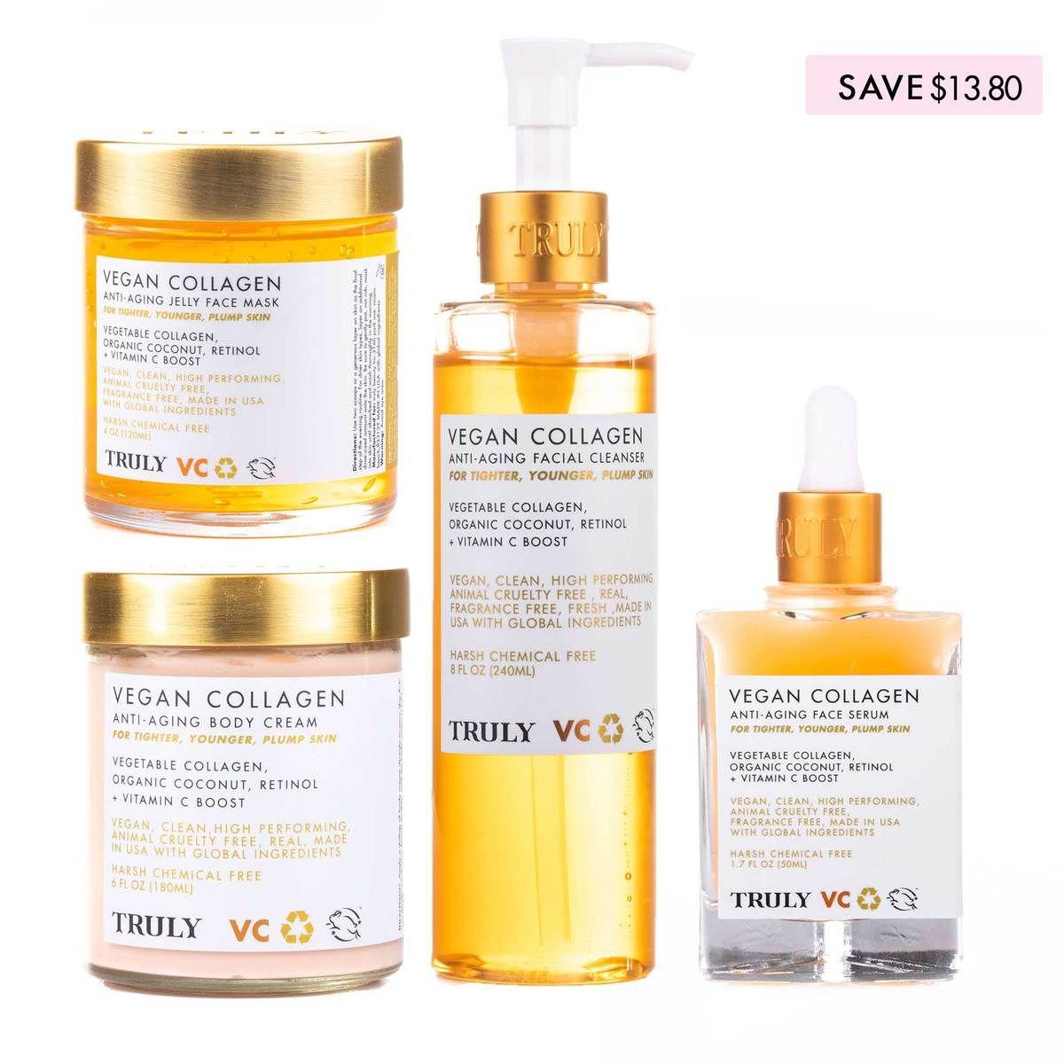 Vegan Collagen Bundle In 2020 Anti Aging Facial Cleanser Anti Aging Body Cream Collagen Facial