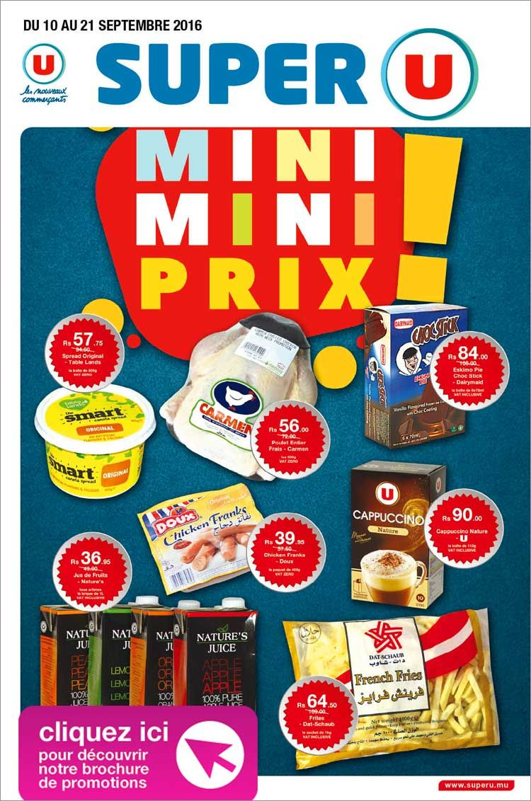 Super U Ebrochure Mini Mini Prix Mini Super Adverts