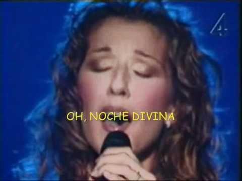 Celine Dion Oh Holy Night Subtitulada Al Espanol 3d Celine Dion Oh Holy Night Holy Night