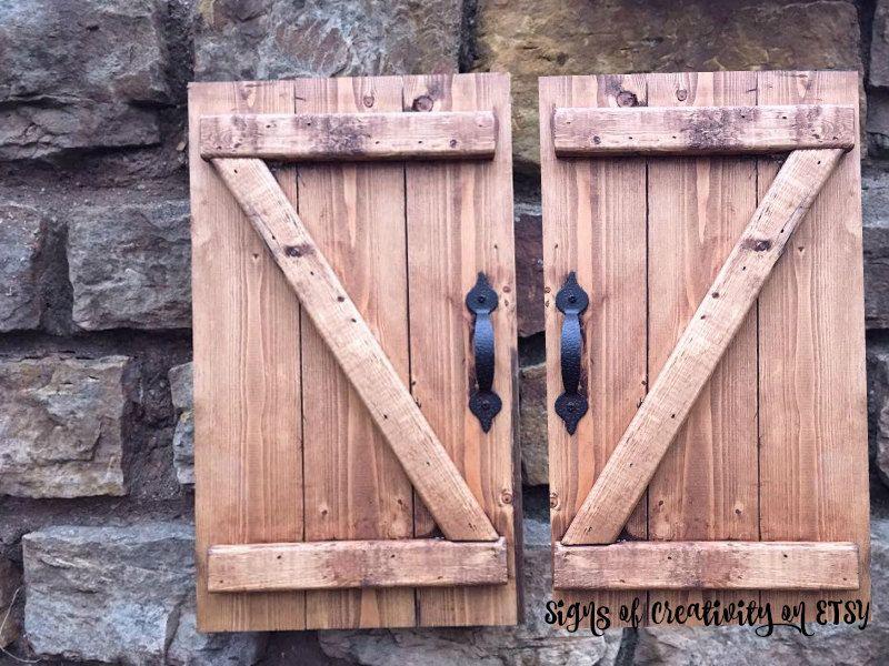 Mini Barn Door - Rustic Barn Door Pair- Nursery Decor - Door Decor ...