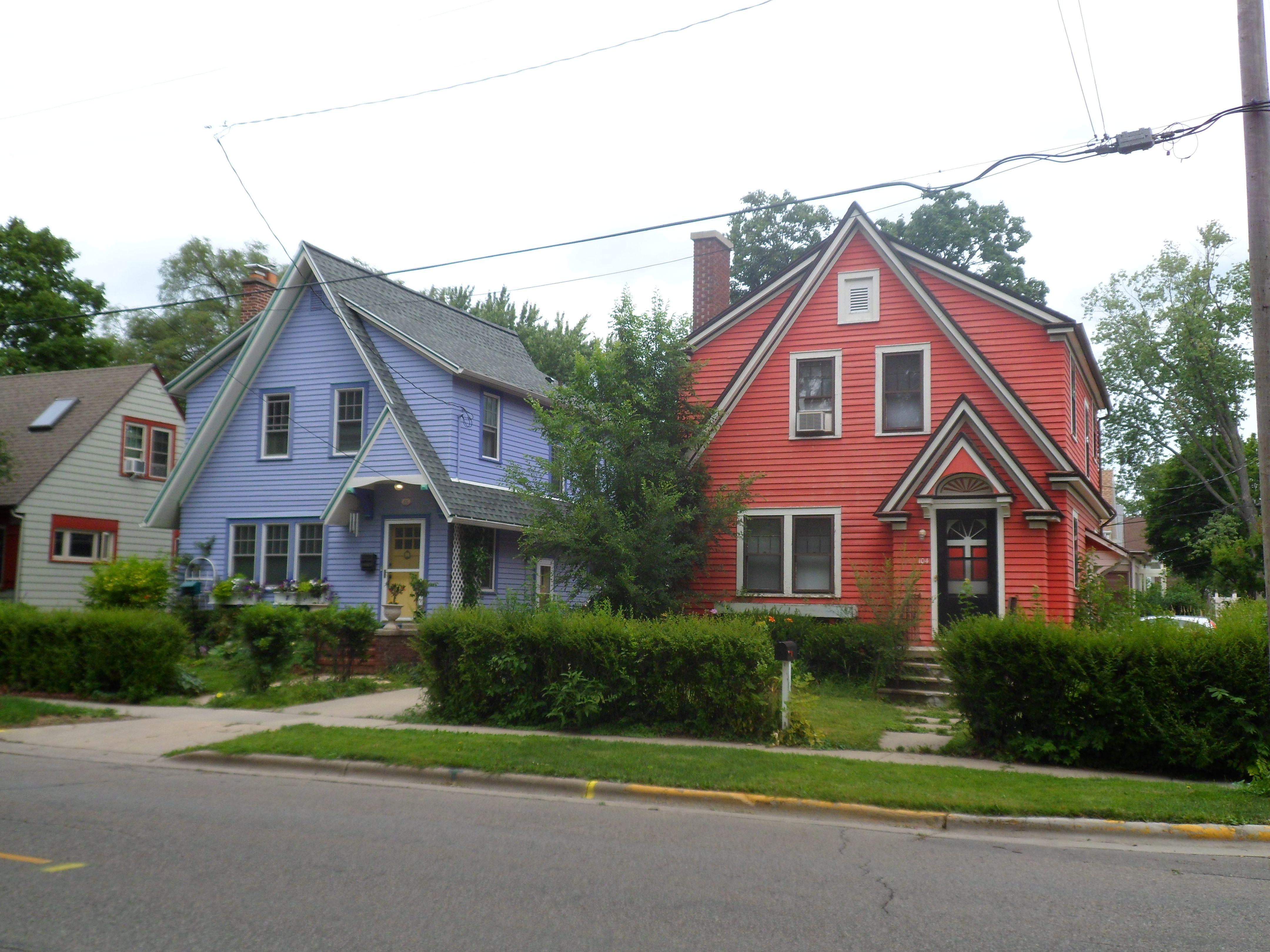 Purple & Red House. Madison, Wisconsin madisonWI