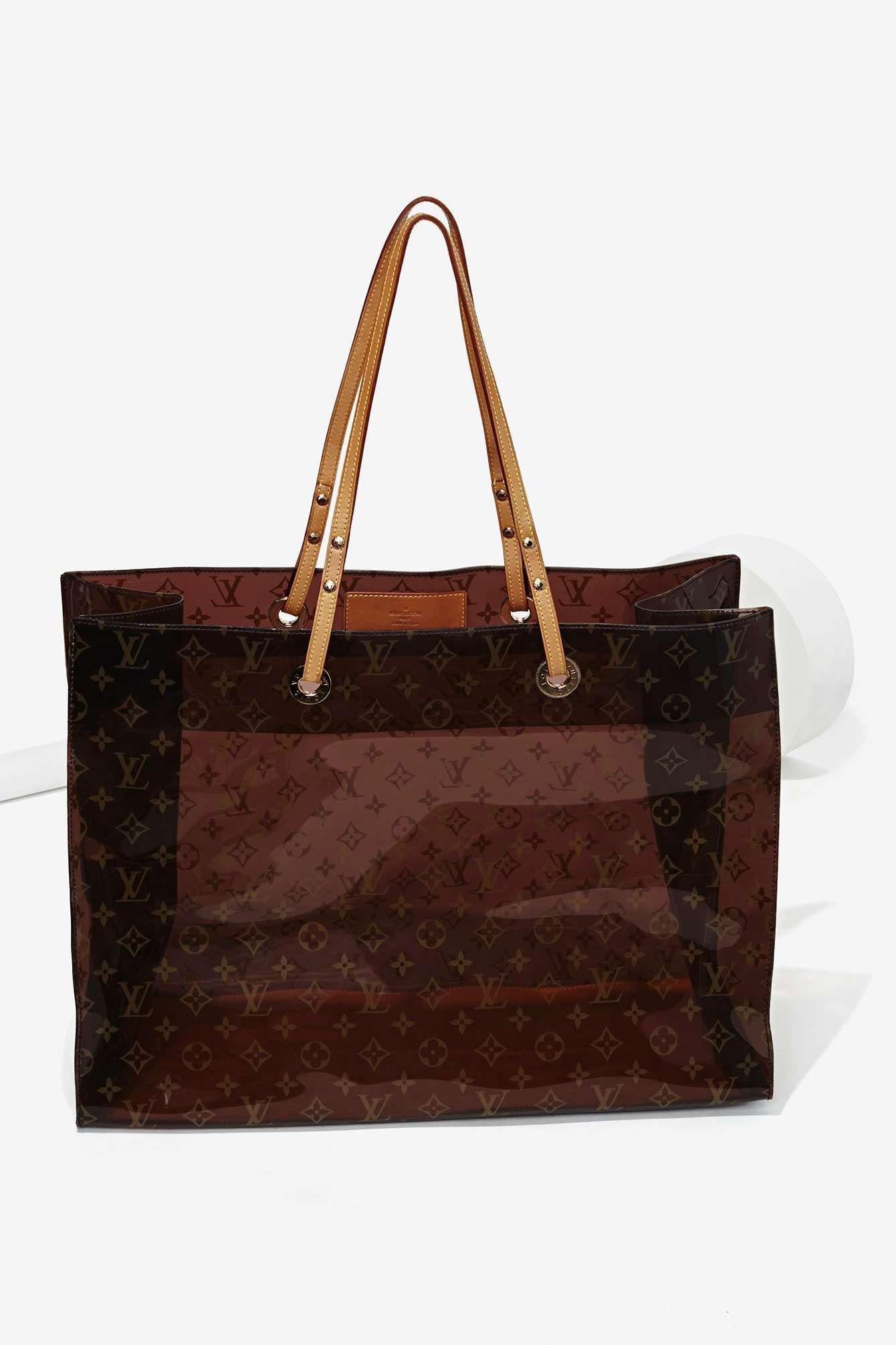 71b6f4713fe Vintage Louis Vuitton Ambre Cabas Vinyl Beach Tote | Louis Vuitton ...