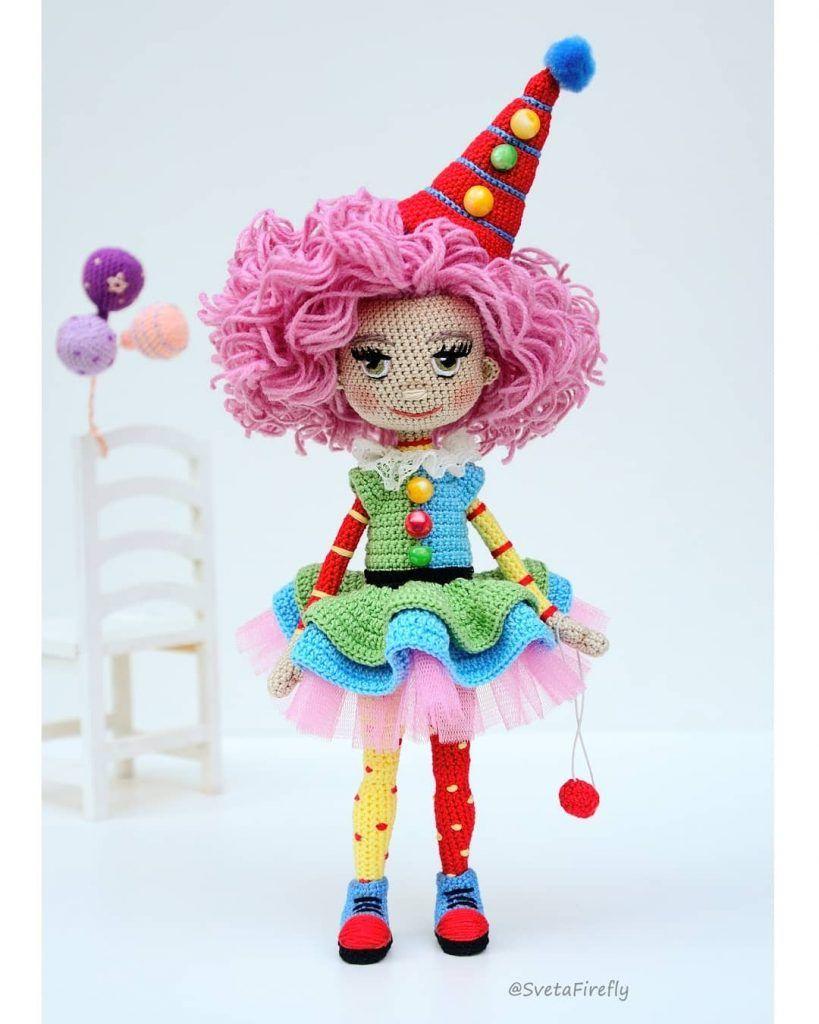 Amigurumi Clown Clown amigurumi crochet (part 2) – Amigurumi Patterns | 1024x819