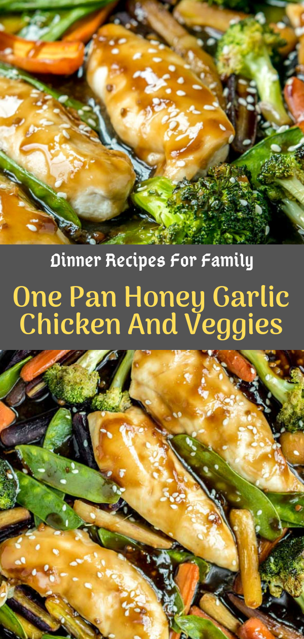 Dinner Recipes For Family | One Pan Honey Garlic Chicken And Veggies #falldinnerrecipes