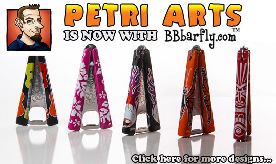 Petri Arts is now creating art for BBbarfly bottle openers. These are VERY cool!!!