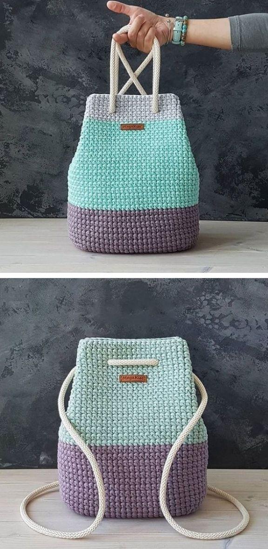 Patrón de bolsa de ganchillo gratis – Design Peak, #Crochet #Design #free  – Bolsa
