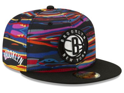 697f160ee762a Rep your team proudly with a Brooklyn Nets New Era NBA City Series 2.0  59FIFTY Cap at LIDS.