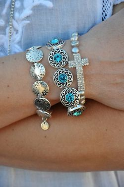 Silver and turquoise  fashion blue jewelry bracelets hipster cross wrist turquoise silver