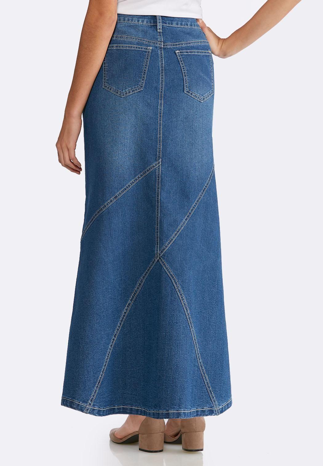 2a1bf1e69 Denim Multi Seam Maxi Skirt Skirts Cato Fashions | Sewing: Skirts ...