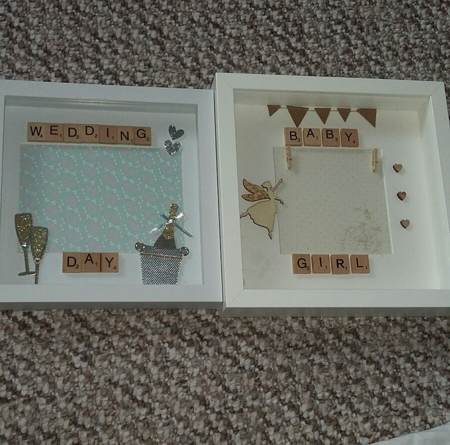 Handmade box frame for special occasions new born baby wedding