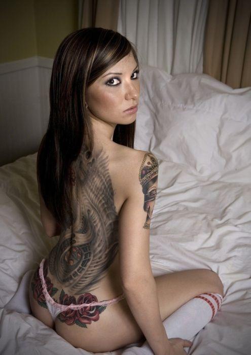 Beautiful Tattoo Models Nude Girl Naked Nude Brunette Beautiful Sweet Sweet Girl Cute Tats Tattoo