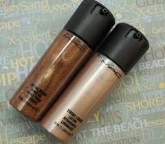 MAC Bronzing oil in Mn Rays $48    Leaves skinn glistening on a night out and nourishes too!
