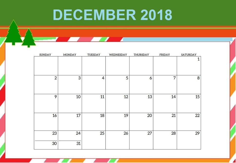 December 2018 Calendar Merry Christmas Maxcalendars Pinterest