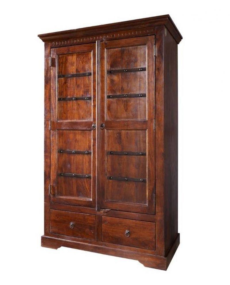 Kleiderschrank Der Serie Oxford Aus Akazienholz Tall Cabinet Storage Home Decor Home Living Room