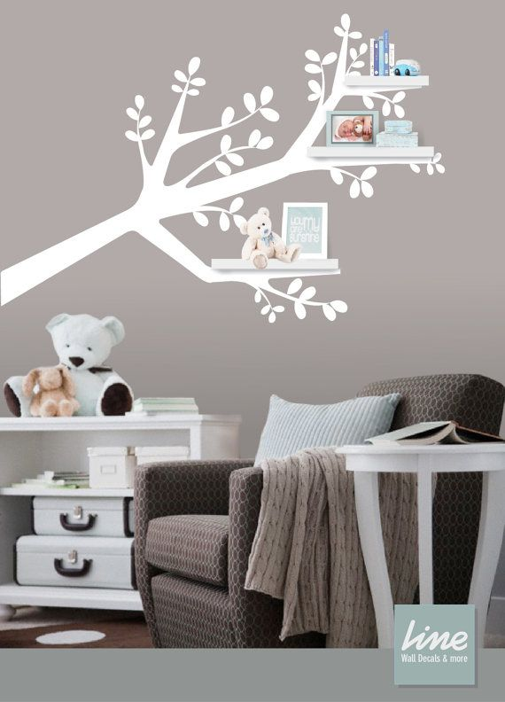 Tree Branch Decal Shelf Organizer  Baby Nursery Wall by LimeDecals, $62.00