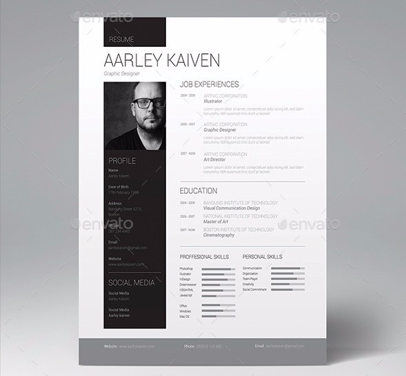 Creative Resume Template Psd Free Download
