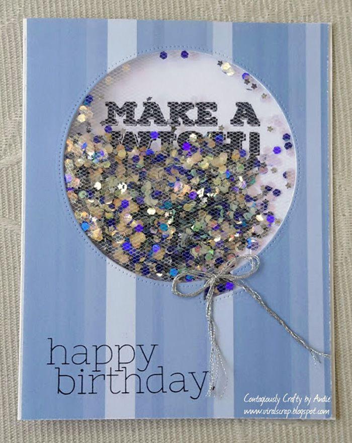 Tulle Birthday Balloon Card Ideas