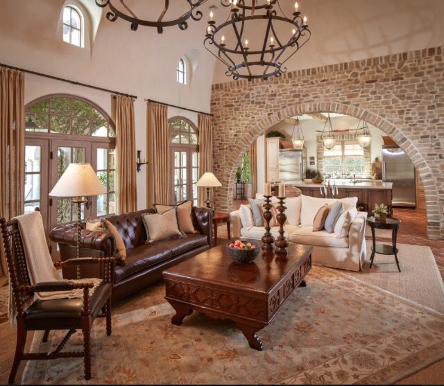 Mix And Match Sofa Leather And Fabric Mediterranean Living Room Living Room Designs Mediterranean Style Living Room
