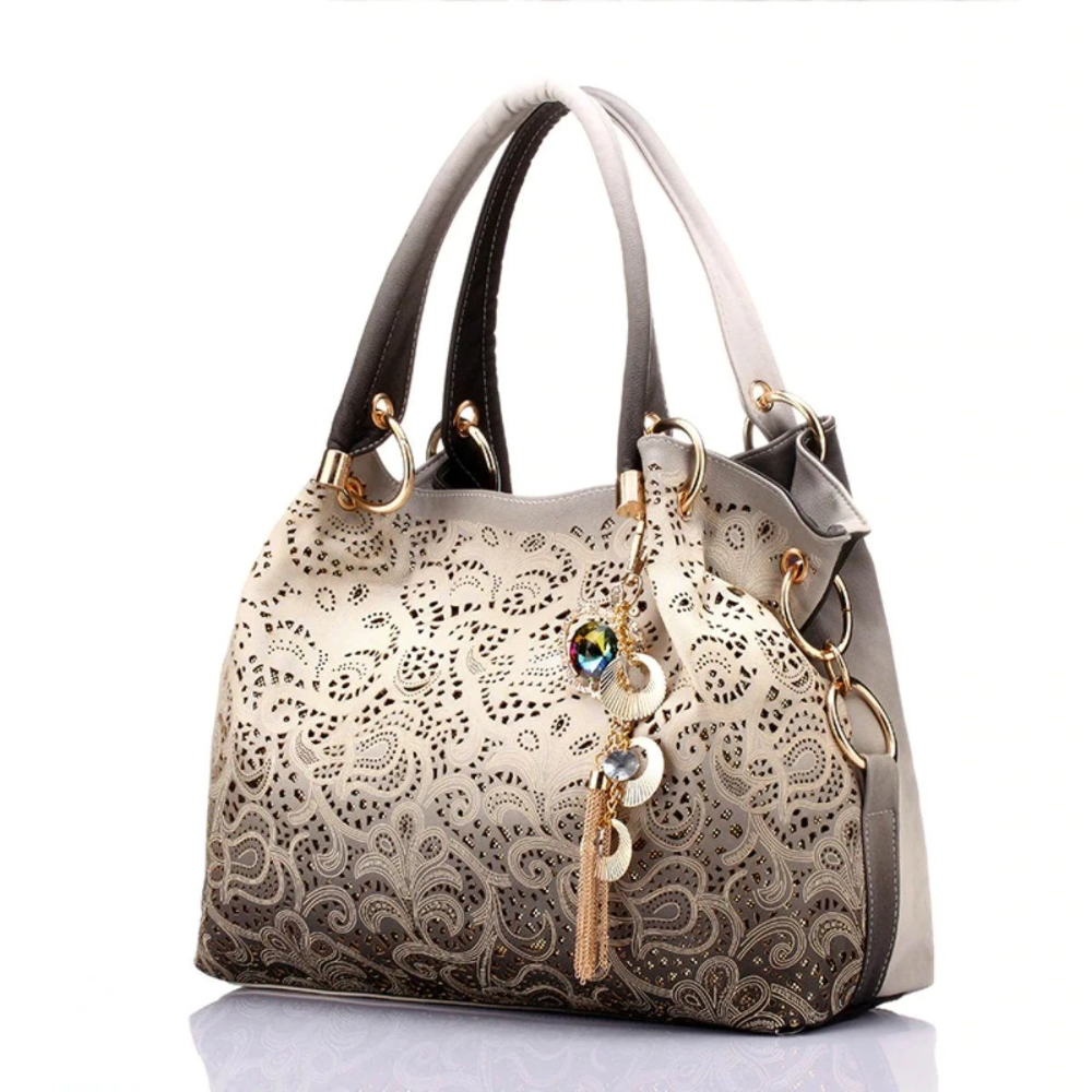 Ombre Hollowout Floral Hand Bag With Key Chain in 2020