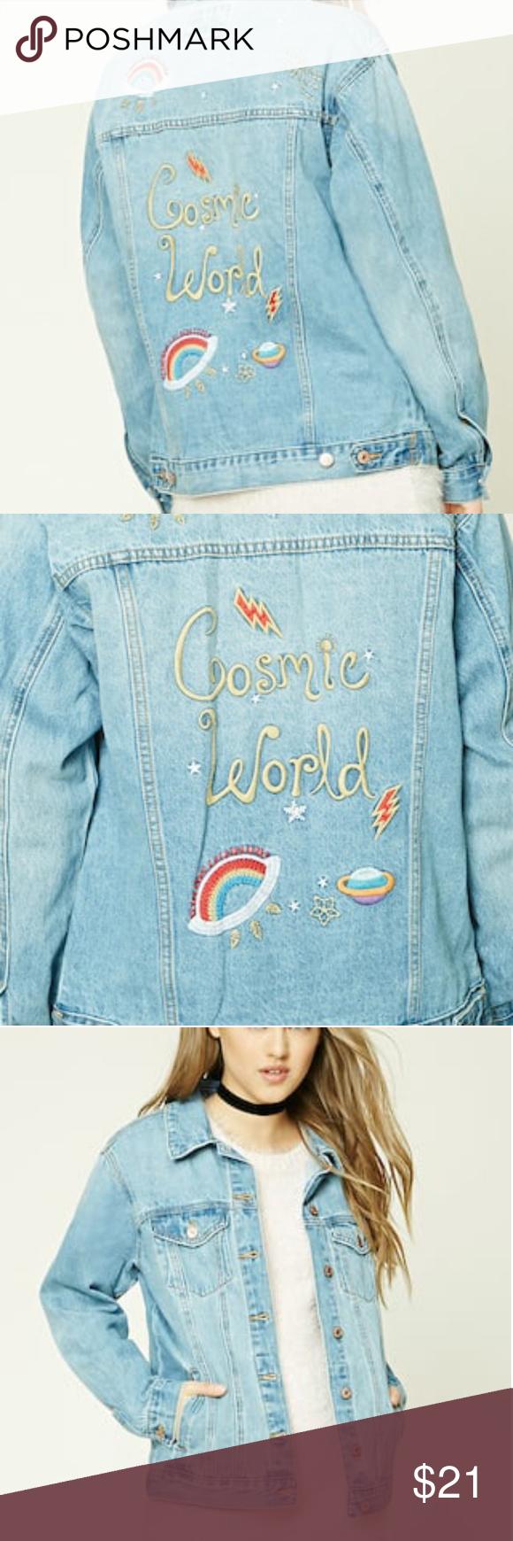 daaa14cbd Forever 21 Cosmic World Denim Jacket A little broken in. A little ...