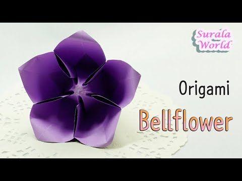 Origami Bellflower Balloon Flower Paper Flower Youtube