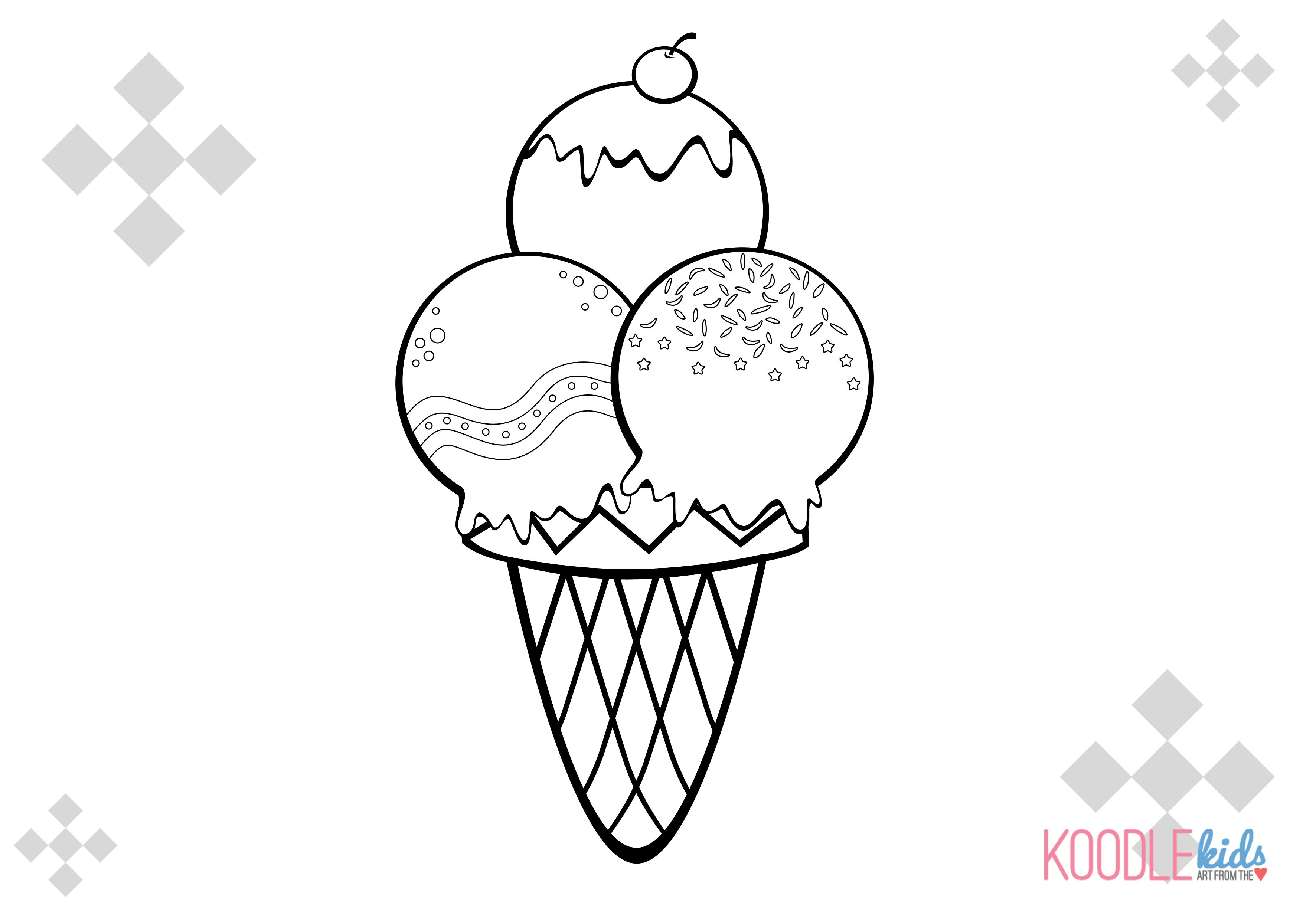 ice cream stand coloring pages - photo#37