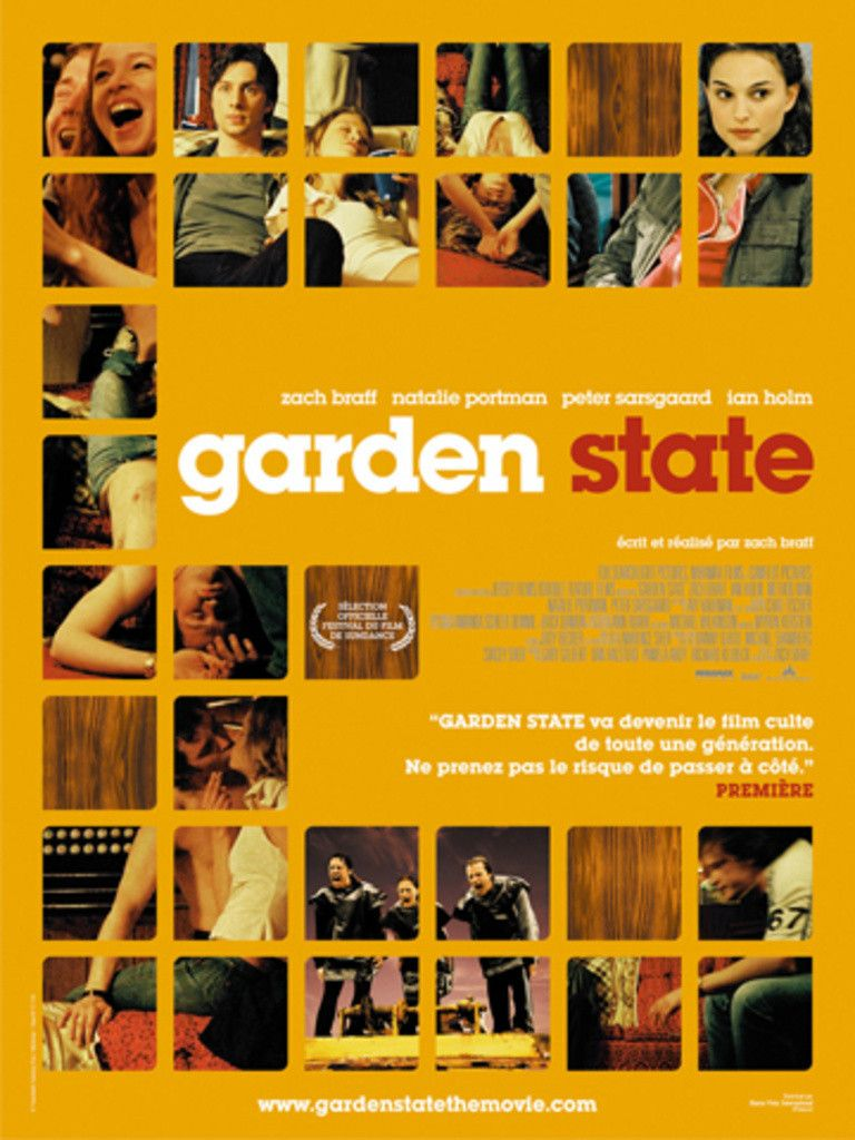 Garden State Movie soundtracks, Go to movies, State posters