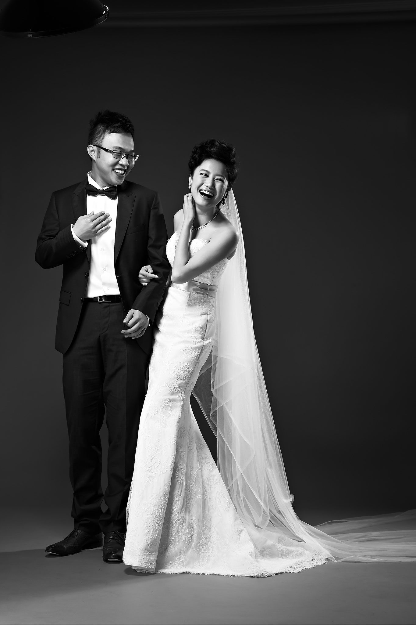 Another Great Studio Black And White Pre Wedding Photo Photoshoot