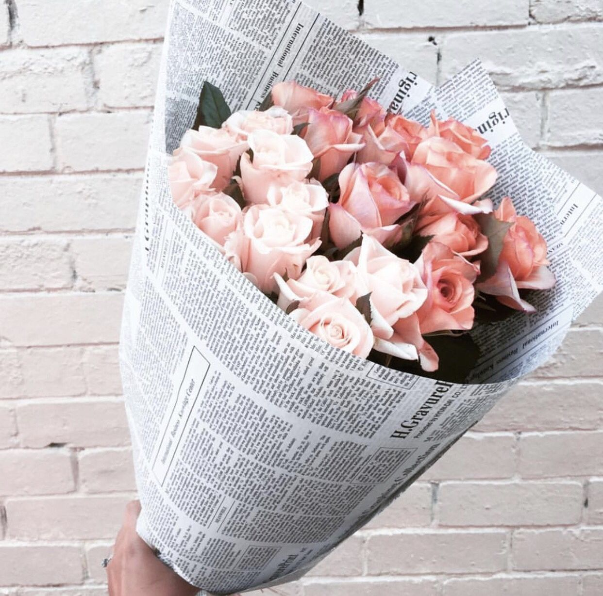 Paris prada pearls perfume shes got it pinterest whoever came up the idea of wrapping flowers in newspaper was brilliant have a beautiful day friends x izmirmasajfo