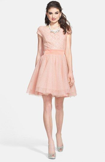 6dbef8548 Trixxi Lace Bodice Tulle Fit & Flare Dress (Juniors), $88 formal ...