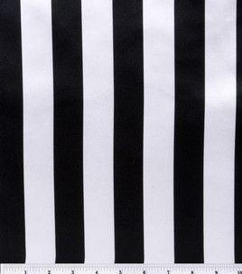 Black & white stripe 100% polyester satin-finish fabric. $5/yd. Halloween with Tim Burton ~~ Halloween Party Decorations & Ideas