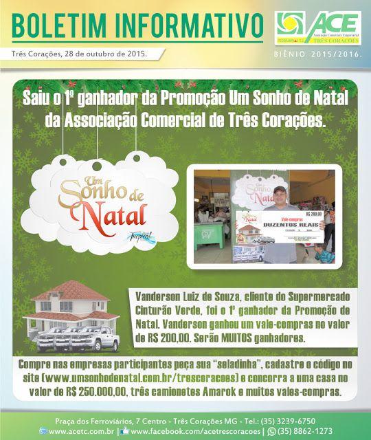 Folha do Sul - Blog do Paulão no ar desde 15/4/2012: BOLETIM ACE: 1º GANHADOR PROMOÇÃO UM SONHO DE NATA...