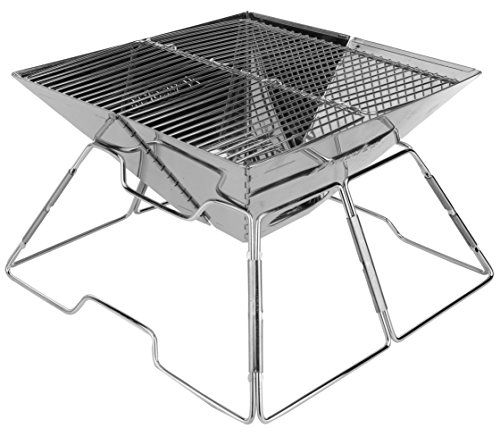 Wealers Compact Folding 12 Inch Charcoal Bbq Grill Made From Stainless Steel Portable And Great For Cam Charcoal Bbq Grill Best Charcoal Grill Camping Fire Pit