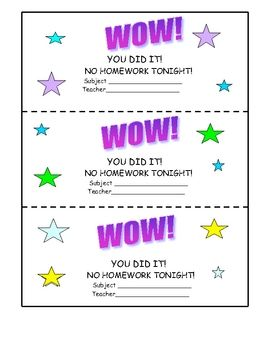 photo about Free Printable Homework Pass named Research pes no cost Clroom Tips Research p
