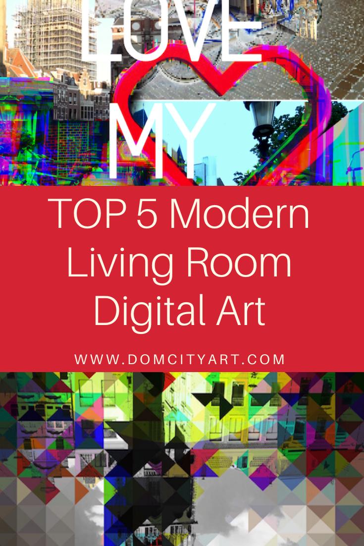 Photo of Trend 2020 Abstracte moderne woonkamer Digitale kunst Amber Houweling DOMCITYART Industrieel ontwerp
