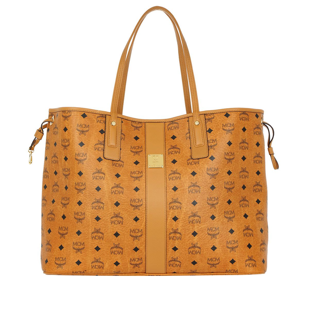 MCM Luxury   MCM Shopper Project Vintage Liz Reversible Large Cognac in  cognac - Fashionette 1f1e9998954