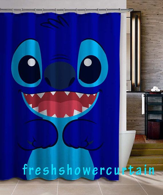 lilo and stitch shower curtain from