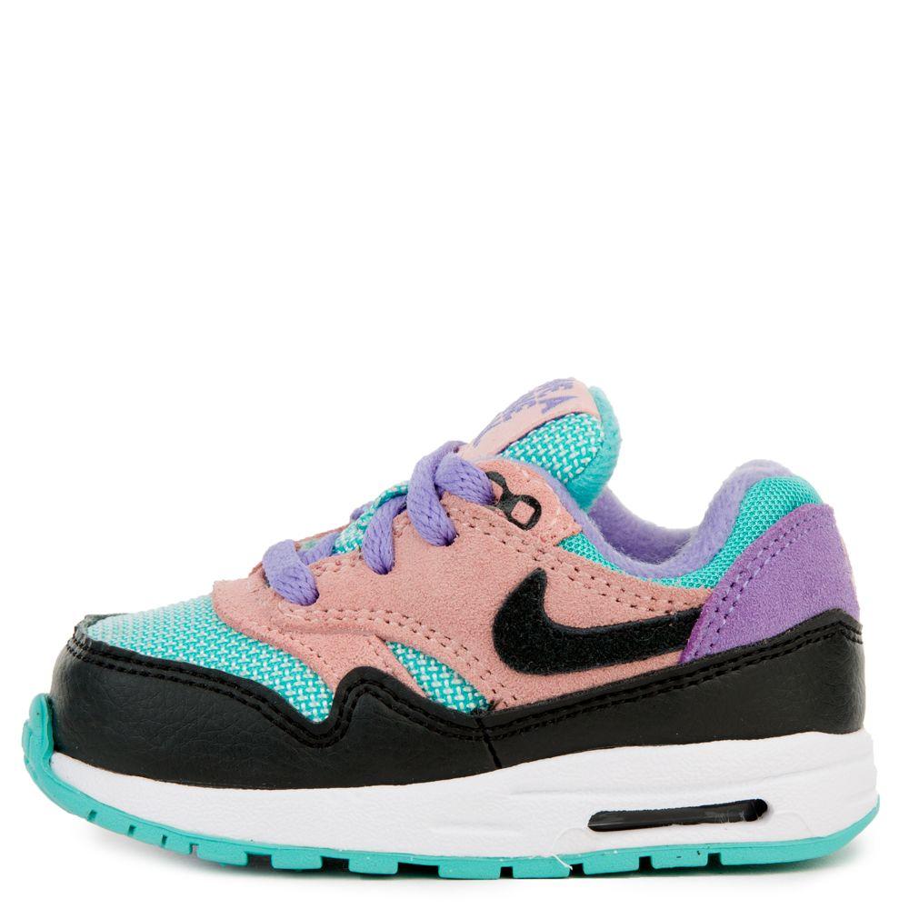 Nike (td) Air Max 1 Blackwhite space Purple bleached Coral