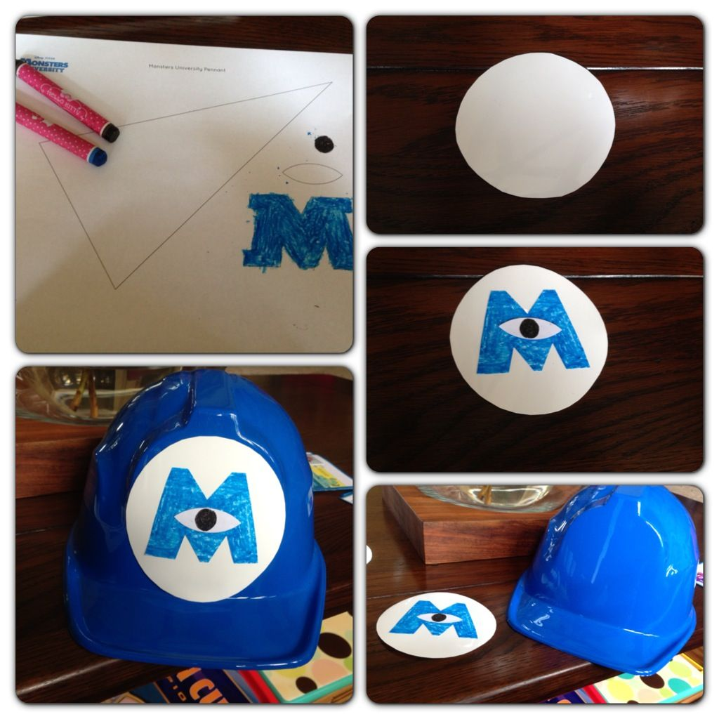 81464e170da How to make your own monster inc hats - template taken from spoonful.com  (adjusted to fit hat)