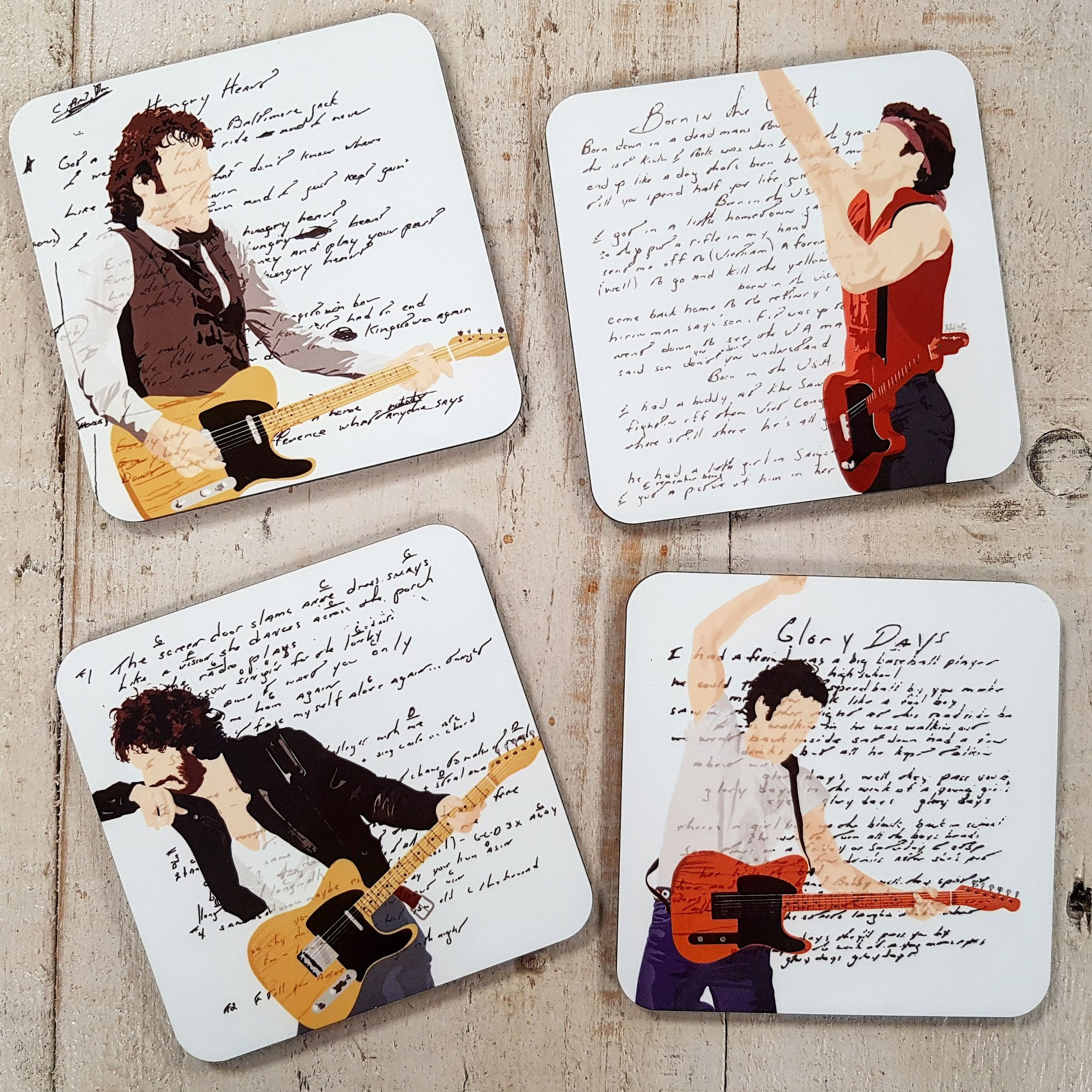 Bruce Springsteen Drinks Coasters Set of 4 Thunder