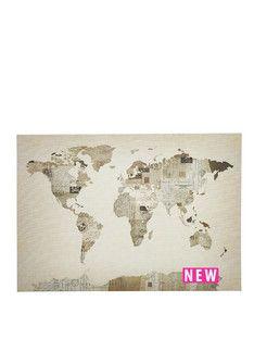 World map atlas canvas woodland decor pinterest world map atlas canvas gumiabroncs Gallery