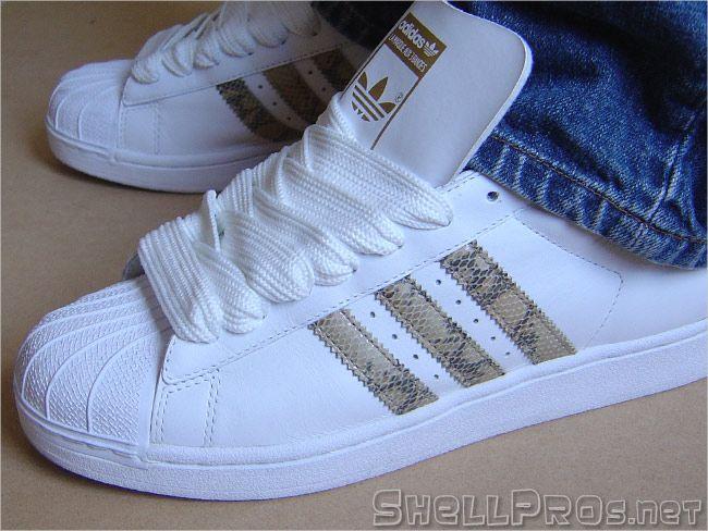Adidas Superstar 1 White / Snake - #672723, 03/03