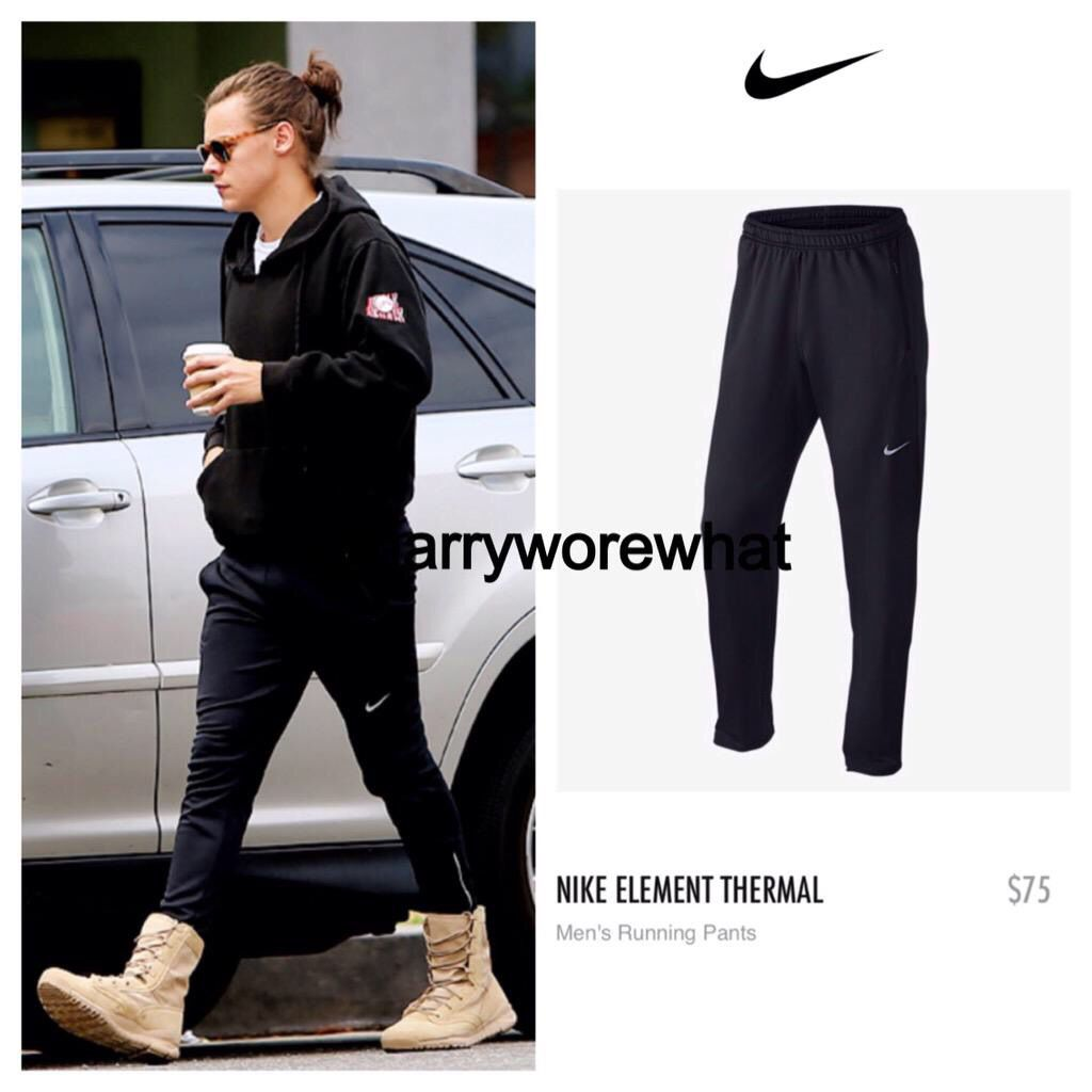 19a5775245c6 Harry wore  Nike element thermal - Nike  75