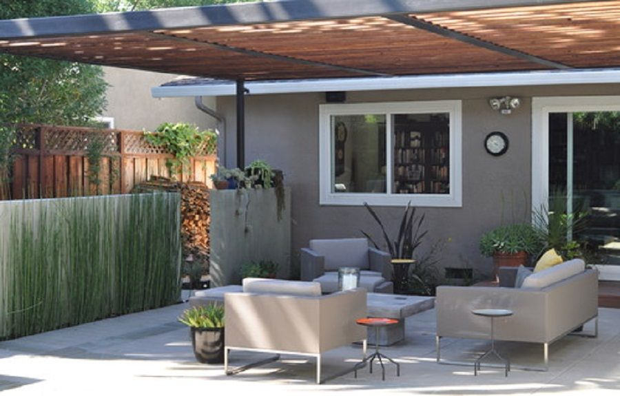 covered patio ideas by steel and redwood arbor http lanewstalk