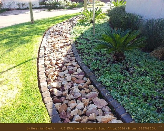 Outdoor French Drain With Trees Landscaping Garden How To